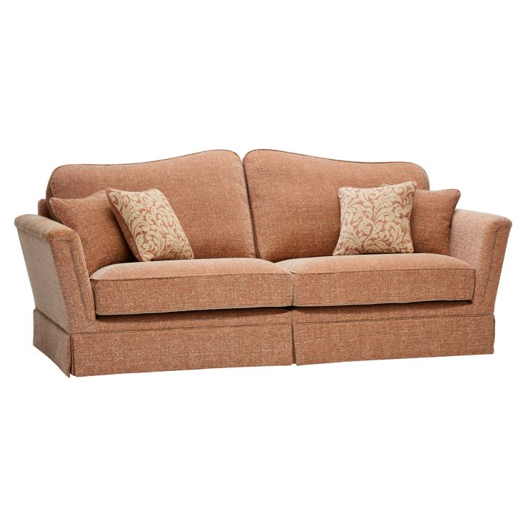 Lanesborough 4 Seater Sofa in Larkin Plain Cinnamon Fabric - Image 5