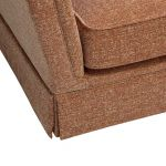 Lanesborough 4 Seater Sofa in Larkin Plain Cinnamon Fabric - Thumbnail 5