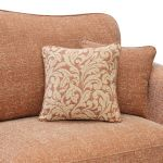 Lanesborough 4 Seater Sofa in Larkin Plain Cinnamon Fabric - Thumbnail 3