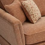 Lanesborough 4 Seater Sofa in Larkin Plain Cinnamon Fabric - Thumbnail 4