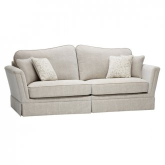 Lanesborough 4 Seater Sofa in Larkin Plain Cream Fabric
