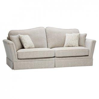 Lanesborough 4 Seater Sofa in Larkin Plain Cream Fabric
