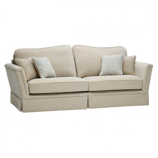Lanesborough 4 Seater Sofa in Larkin Plain Duck Egg Fabric