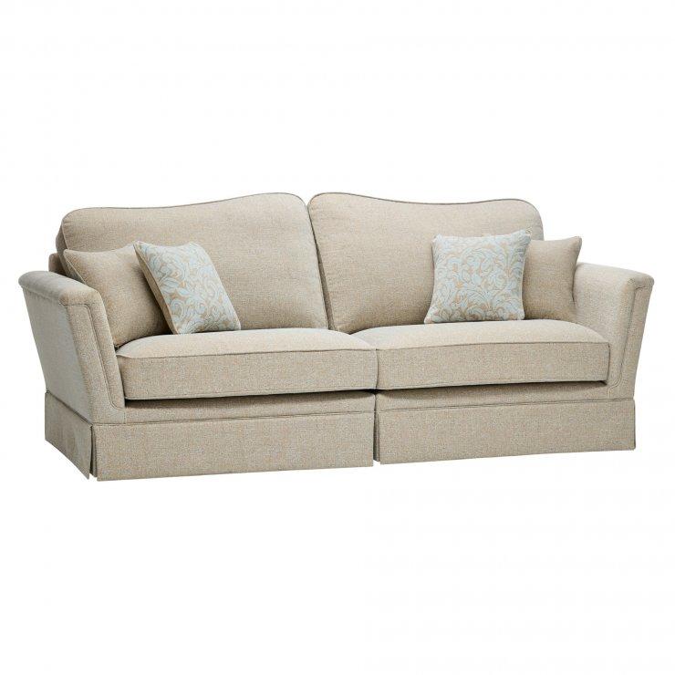 Lanesborough 4 Seater Sofa in Larkin Plain Duck Egg Fabric - Image 4