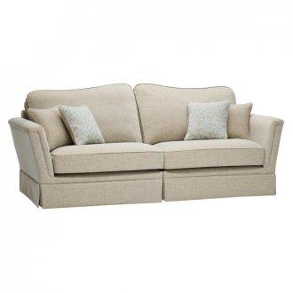 Lanesborough 4 Seater Sofa in Larkin Plain Duck Egg Fabric