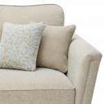 Lanesborough 4 Seater Sofa in Larkin Plain Duck Egg Fabric - Thumbnail 4