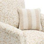 Lanesborough Armchair in Larkin Floral Beige Fabric - Thumbnail 6