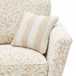 Lanesborough Armchair in Larkin Floral Beige Fabric - Thumbnail 7