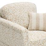Lanesborough Armchair in Larkin Floral Beige Fabric - Thumbnail 5
