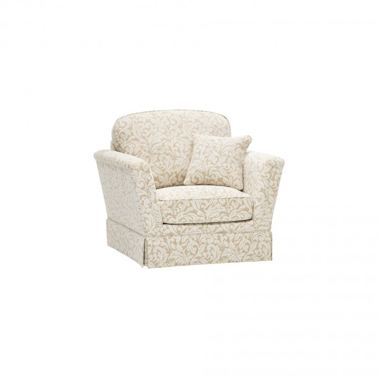 Lanesborough Armchair in Larkin Floral Beige Fabric - Image 8