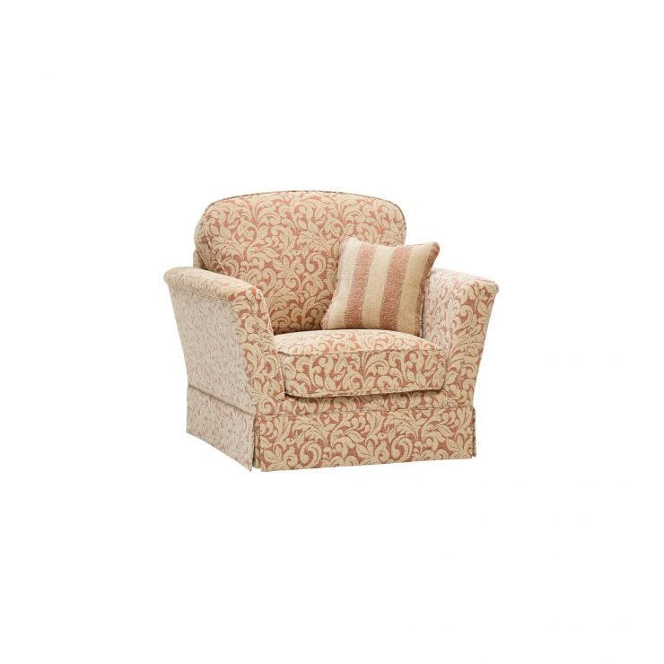 Lanesborough Armchair in Larkin Floral Cinnamon Fabric