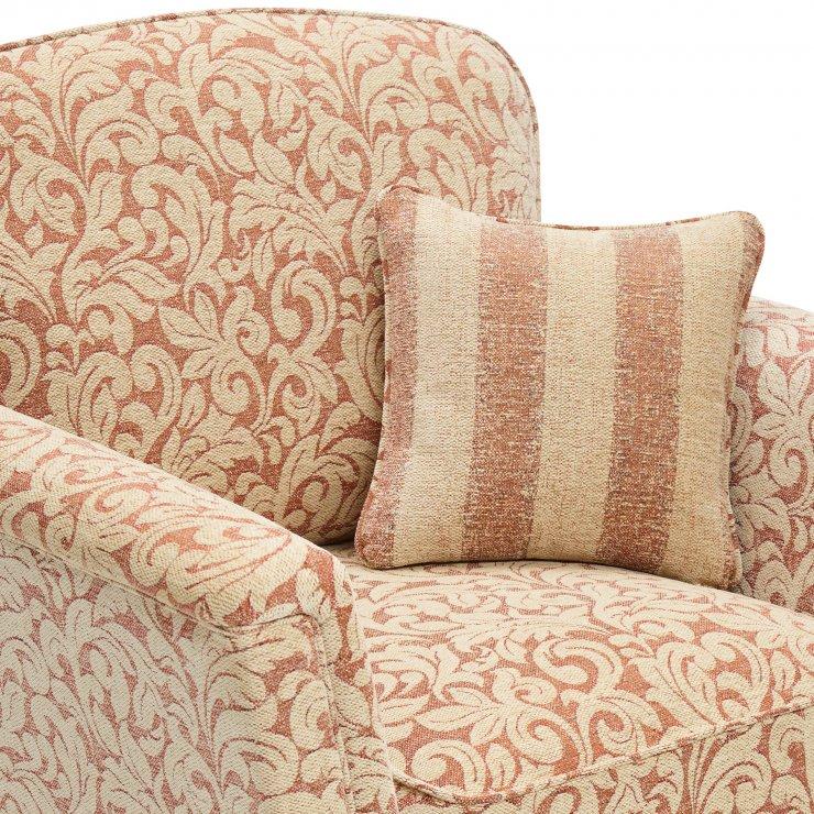 Lanesborough Armchair in Larkin Floral Cinnamon Fabric