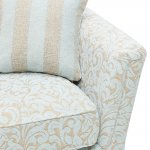 Lanesborough Armchair in Larkin Floral Duck Egg Fabric - Thumbnail 6
