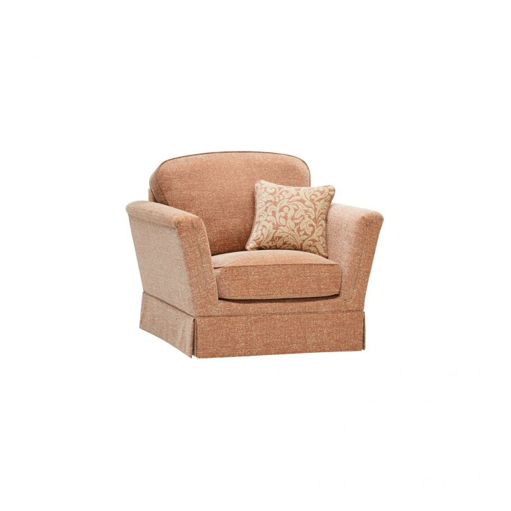Lanesborough Armchair in Larkin Plain Cinnamon Fabric