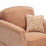 Lanesborough Armchair in Larkin Plain Cinnamon Fabric - Thumbnail 3