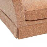 Lanesborough Armchair in Larkin Plain Cinnamon Fabric - Thumbnail 4