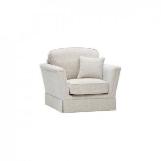 Lanesborough Armchair in Larkin Plain Cream Fabric