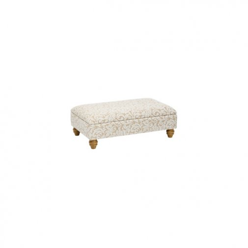 Lanesborough Storage Footstool in Larkin Floral Beige Fabric