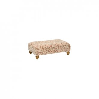 Lanesborough Storage Footstool in Larkin Floral Cinnamon Fabric