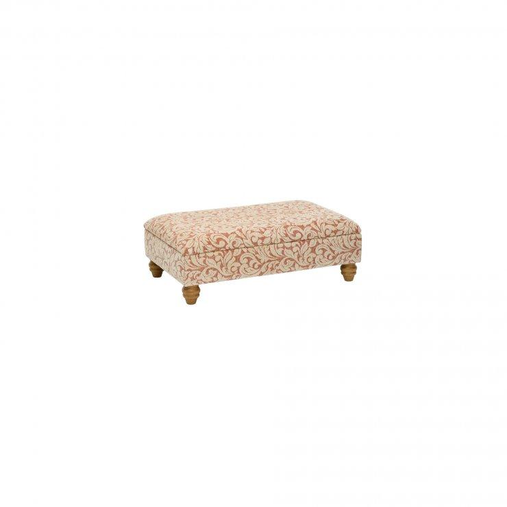 Lanesborough Storage Footstool in Larkin Floral Cinnamon Fabric