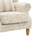 Lanesborough Wing Chair in Larkin Floral Beige Fabric - Thumbnail 10
