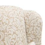 Lanesborough Wing Chair in Larkin Floral Beige Fabric - Thumbnail 7