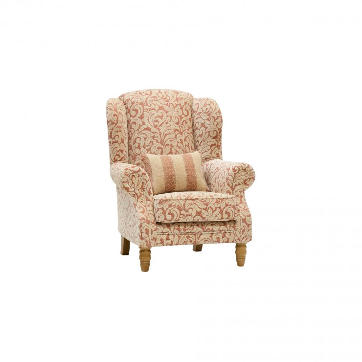 Lanesborough Wing Chair in Larkin Floral Cinnamon Fabric - Image 7