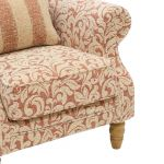 Lanesborough Wing Chair in Larkin Floral Cinnamon Fabric - Thumbnail 5