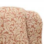Lanesborough Wing Chair in Larkin Floral Cinnamon Fabric - Thumbnail 6