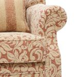 Lanesborough Wing Chair in Larkin Floral Cinnamon Fabric - Thumbnail 7