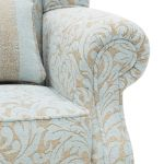 Lanesborough Wing Chair in Larkin Floral Duck Egg Fabric - Thumbnail 6