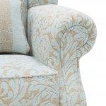 Lanesborough Wing Chair in Larkin Floral Duck Egg Fabric - Thumbnail 6