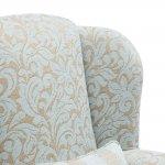 Lanesborough Wing Chair in Larkin Floral Duck Egg Fabric - Thumbnail 7