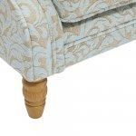 Lanesborough Wing Chair in Larkin Floral Duck Egg Fabric - Thumbnail 8