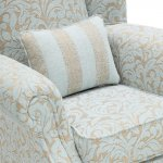 Lanesborough Wing Chair in Larkin Floral Duck Egg Fabric - Thumbnail 5