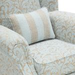 Lanesborough Wing Chair in Larkin Floral Duck Egg Fabric - Thumbnail 5