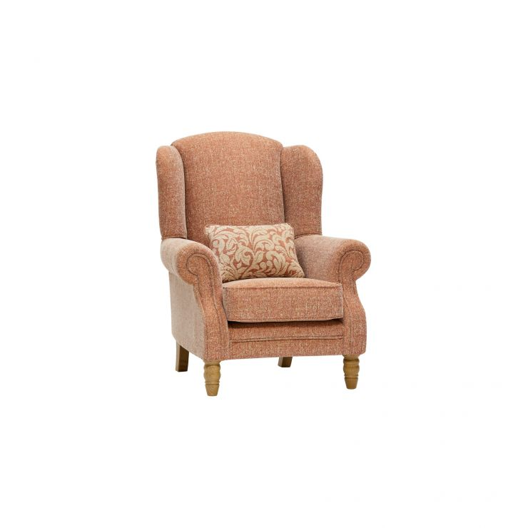 Lanesborough Wing Chair in Larkin Plain Cinnamon Fabric - Image 9