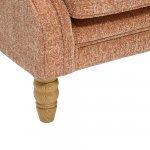Lanesborough Wing Chair in Larkin Plain Cinnamon Fabric - Thumbnail 6