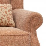 Lanesborough Wing Chair in Larkin Plain Cinnamon Fabric - Thumbnail 7