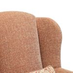 Lanesborough Wing Chair in Larkin Plain Cinnamon Fabric - Thumbnail 8