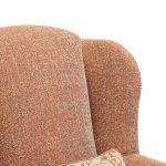 Lanesborough Wing Chair in Larkin Plain Cinnamon Fabric - Thumbnail 8