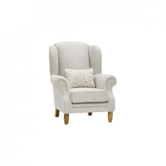 Lanesborough Wing Chair in Larkin Plain Cream Fabric