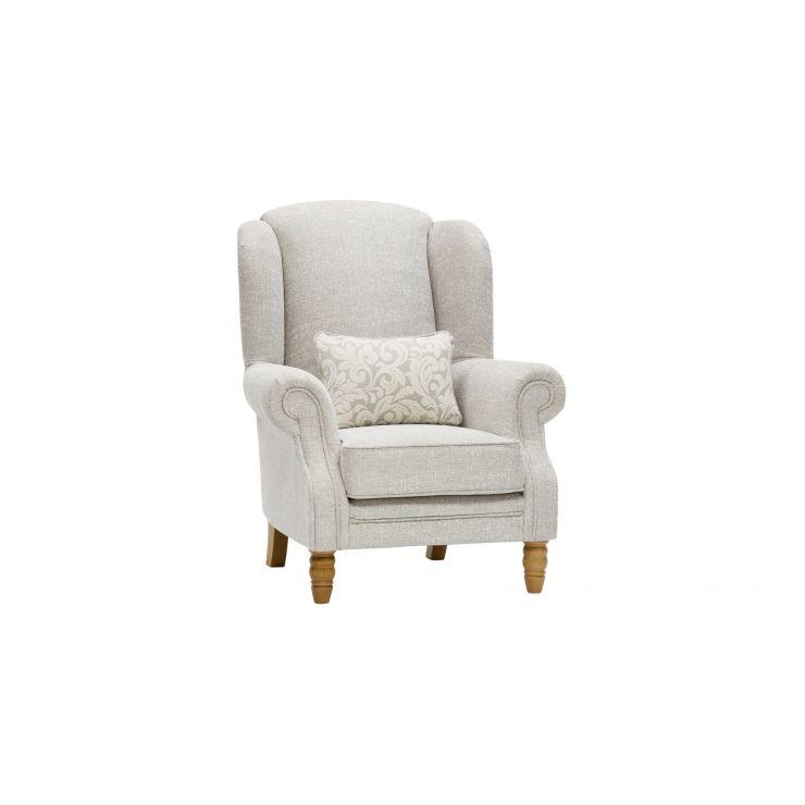 Lanesborough Wing Chair in Larkin Plain Cream Fabric - Image 9