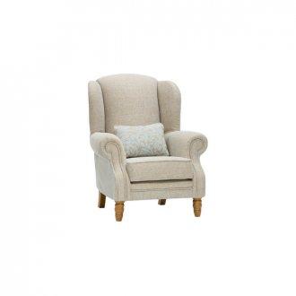 Lanesborough Wing Chair in Larkin Plain Duck Egg Fabric