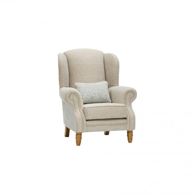 Lanesborough Wing Chair in Larkin Plain Duck Egg Fabric - Image 9