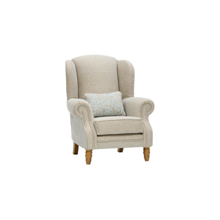 Lanesborough Wing Chair in Larkin Plain Duck Egg Fabric - Image 9