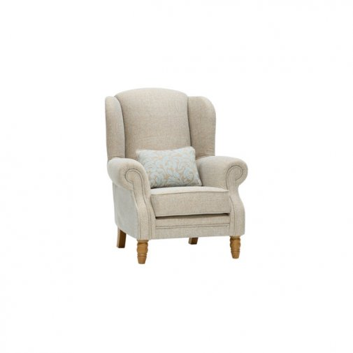 Lanesborough Wing Chair in Larkin Plain Duck Egg Fabric