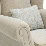 Lanesborough Wing Chair in Larkin Plain Duck Egg Fabric - Thumbnail 6