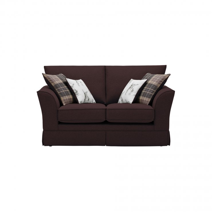 Liberty 2 Seater Sofa - Hawkshead Brown Fabric with Beige Scatters