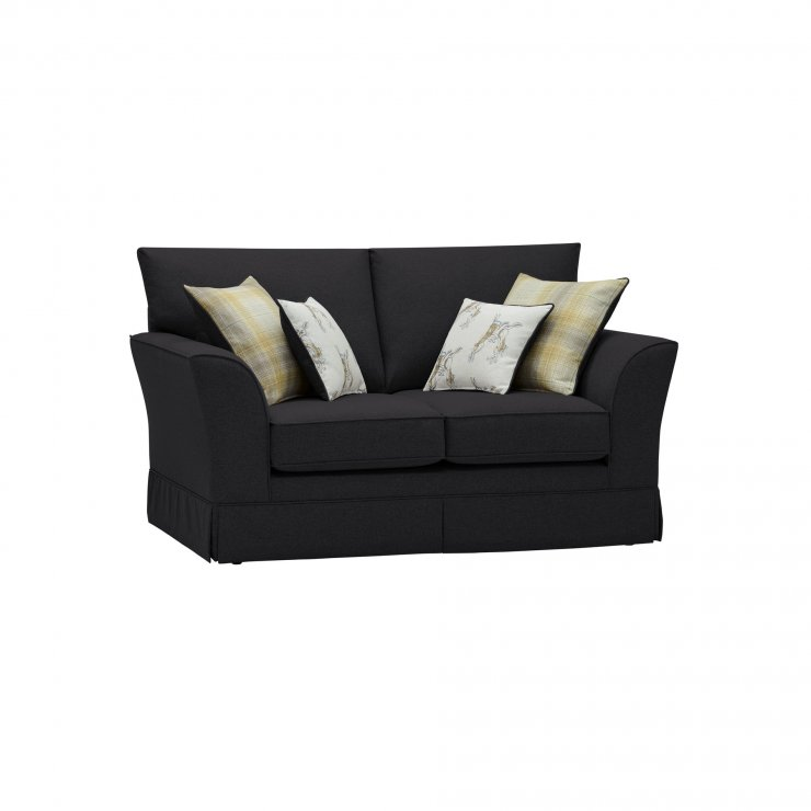 Liberty 2 Seater Sofa - Hawkshead Charcoal Fabric with Yellow Scatters